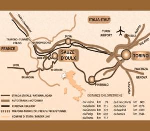 Mappa Sauze d'Oulx